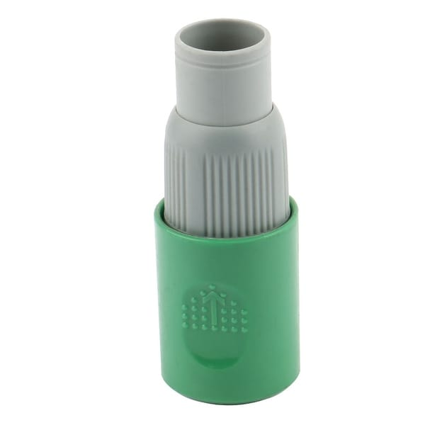 Farm Garden Plastic Adjustable Irrigation Connector Nozzle Gray Green