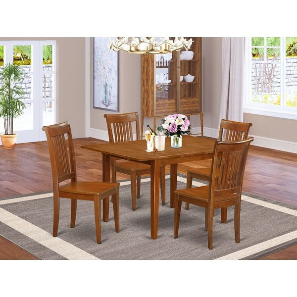 5 Piece Dinette Set Small Dining Table And 4 Chairs Overstock 10319831