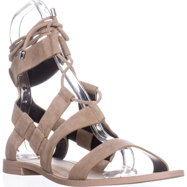 Rebecca Minkoff Giada Strappy Lace-Up Sandals, Taupe Suede - 10 us