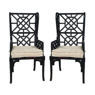 GuildMaster 659522PWMLB Bamboo 47 Inch Tall Two Piece Mahogany Chair Set
