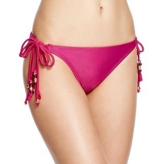 Pily Q Womens Beaded String Swim Bottom Separates - S