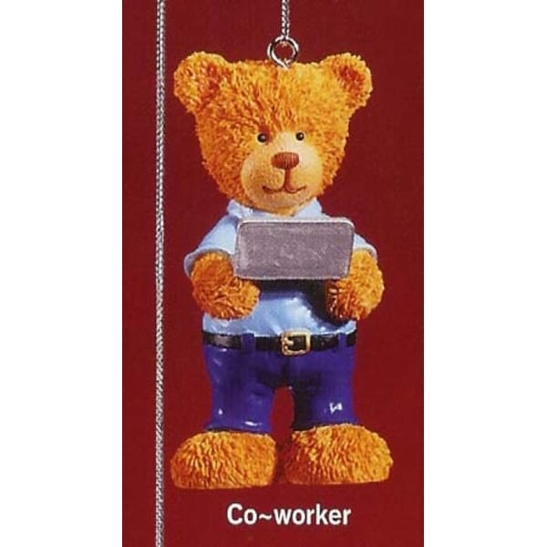 "RUSS Very Beary ""Co-Worker"" Christmas Ornament #32008"
