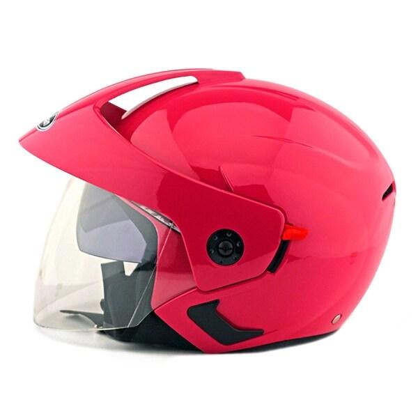 Motorcycle Motor Bike Scooter Safety Helmet 205 - pink