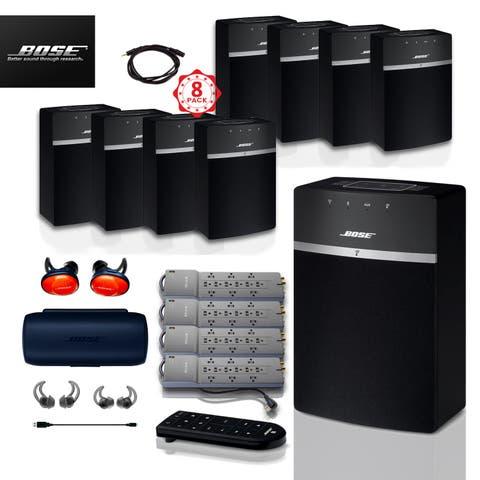 8x Bose SoundTouch 10 (Black) + FREE SoundSports + 5 pc Acc Bundle