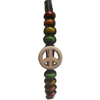 Peace Wax Cord bracelet mixed colors