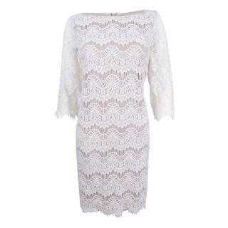 Jessica Howard Women's Petite Lace Illusion Sheath Dress (3 options available)