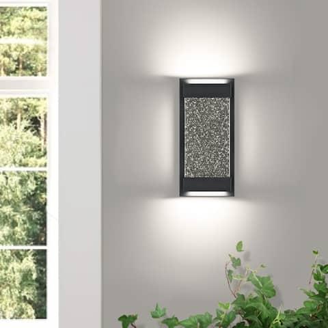 1 - Light Dimmable Black Corner Wall Light