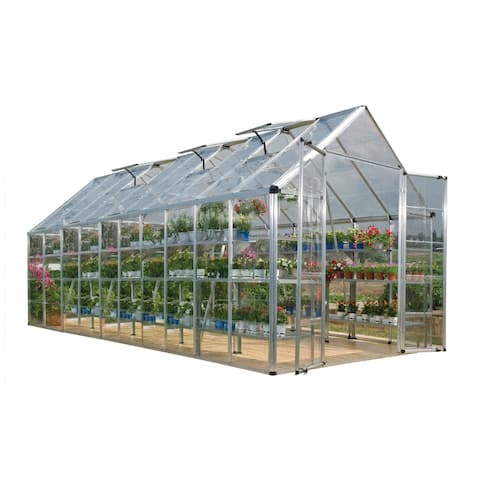Palram Silver Snap and Grow Greenhouse (8' x 20') - 8 ft. x 20 ft.
