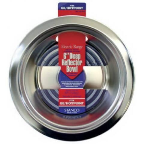 "Stanco 5010-6 Deep Reflector Bowl, Chrome Plated Steel, 6"""