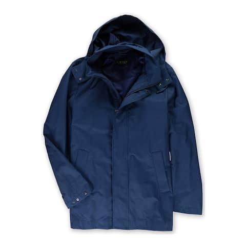 Ralph Lauren Mens Yorkshire Raincoat, Blue, 42 Short