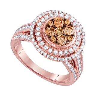 1 1/2Ctw Diamond Fashion Ring Rose-Gold 14K