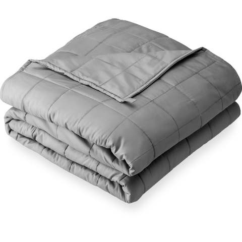 All Natural Cotton 20lb Weighted Blanket Gray