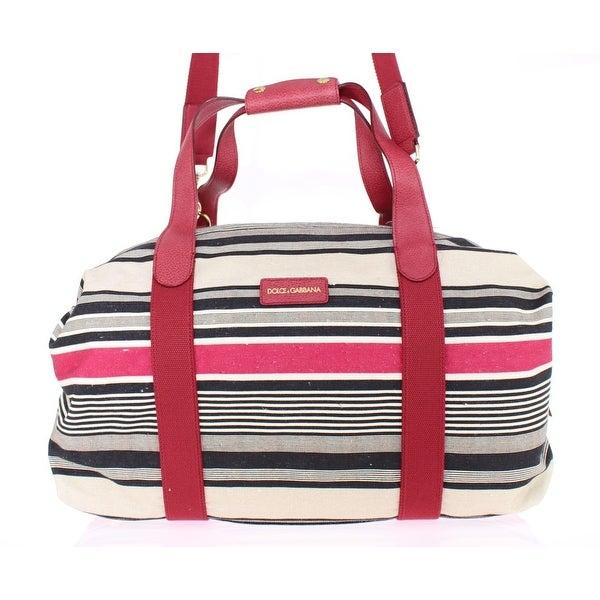 1968e1479c Shop Dolce   Gabbana Multicolor striped boston bag - One Size - Free ...