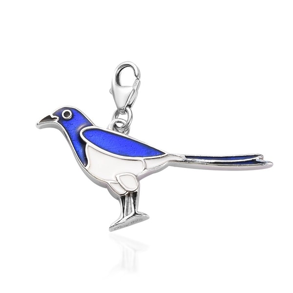 Platinum Over 925 Sterling Silver Bird Charm Jewelry Accessories. Opens flyout.