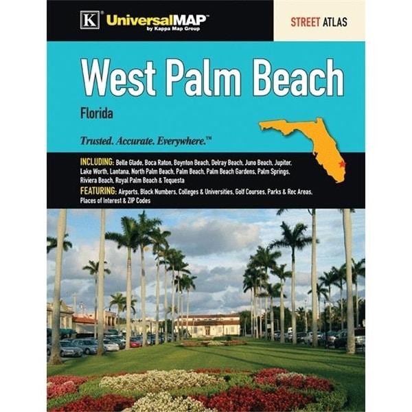 Palm Beach Gardens Zip Code Map.Shop Universal Map 0762574100 West Palm Beach Fl Street Atlas