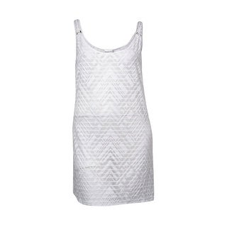 Dotti Women's Textured Stretch Tank Dress Swim Cover-Up - L