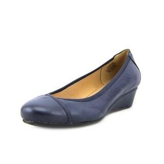Easy Spirit Dobey Women Open Toe Leather Wedge Heel