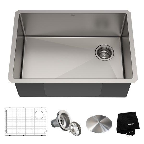 KRAUS Standart PRO Stainless Steel 27 inch Undermount Kitchen Sink. Opens flyout.