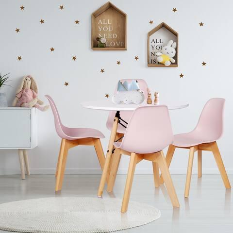 Vecelo Cute 5-piece Kids Dining Set play table set