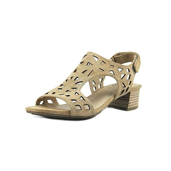 Me Too Womens Madelyn Heels Laser Cut Open Toe
