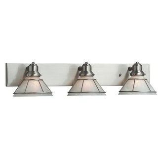 "Dolan Designs 633 3 Light 28"" Wide Bathroom Fixture from the Craftsman Collection - satin nickel"