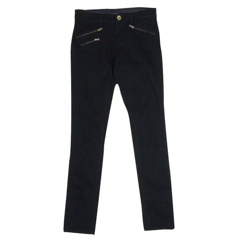 INC Women's Skinny Leg Regualr Fit Zip Pants - Black - 0