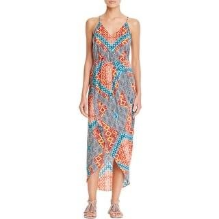 Amanda Uprichard Womens Maxi Dress Silk Printed