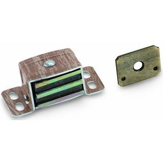 Amerock BP9798-AW Heavy Duty Magnetic Catch, Aluminum / Wood Grain