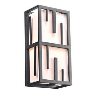 "PLC Lighting 16662 2 Light 9"" Wide ADA Compliant Outdoor Wall Sconce from the Keller Collection - Gold"
