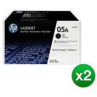 HP 05A Black Original LaserJet Toner Dual Cartridge (CE505D)(2-Pack)