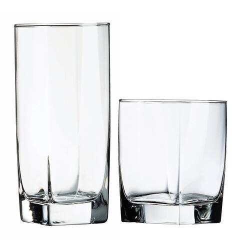 Luminarc Sterling 16 Piece Assorted Glassware Set