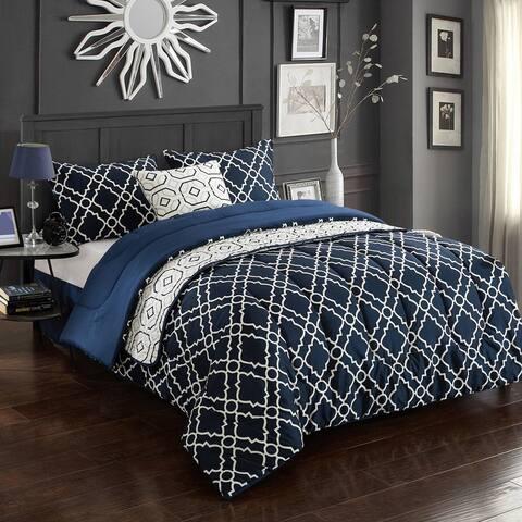 CASA Geo 6-Piece Comforter Set, Multiple Sizes