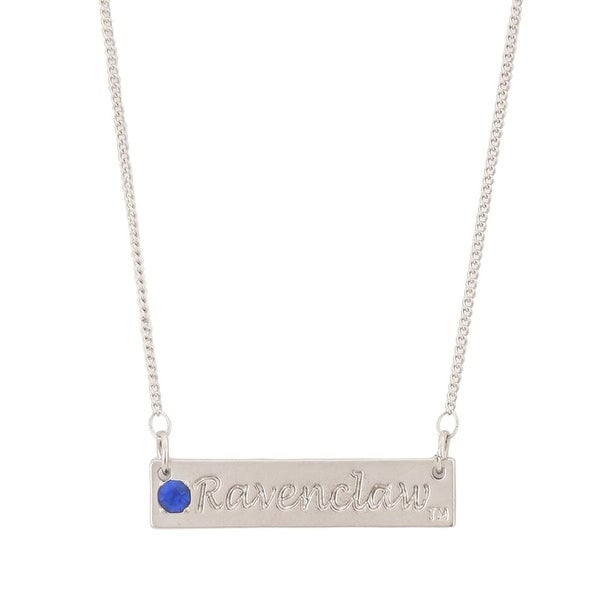Harry Potter Ravenclaw Script Bar Necklace with Stone - multi
