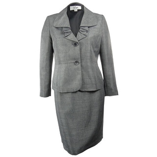 Le Suit Women's Amalfi Coast Ruffle Lapel Skirt Suit - 6