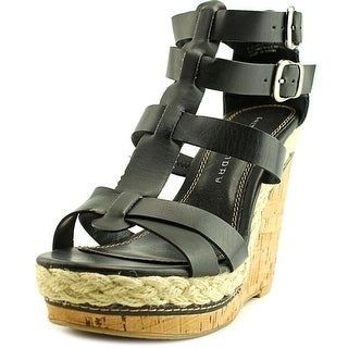 Chinese Laundry double dare   Open Toe Synthetic  Wedge Sandal