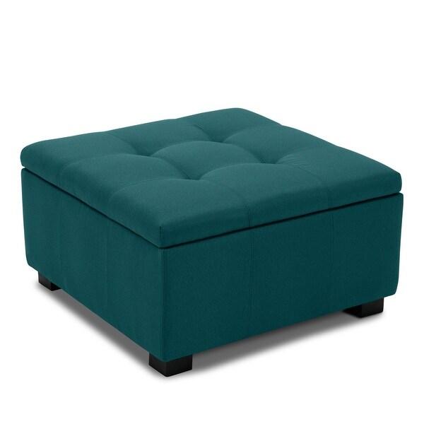 Shop BELLEZE Upholstered Modern Style Living Room Bedroom Storage ...