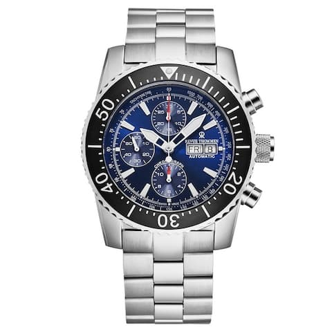 Revue Thommen Men's 17030.6123 'Divers' Blue Dial Day-Date Chronograph Automatic Watch
