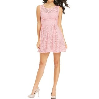 B. Darlin Womens Juniors Party Dress Pointelle Sleeveless
