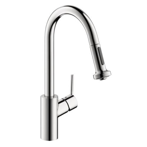 Hansgrohe 14877 Talis S Pull-Down Kitchen Faucet with High-Arc Spout, Magnetic Docking, Non-Locking Spray Diverter - Includes