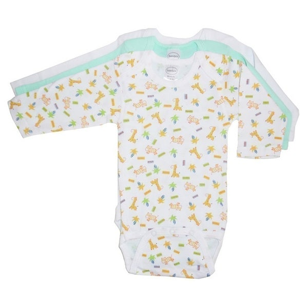 Bambini Baby Boys Multi Color Variety Print Long Sleeve 3-Pack Bodysuits