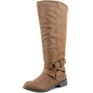 Madden Girl Corprl Wide Calf Women Round Toe Synthetic Knee High Boot