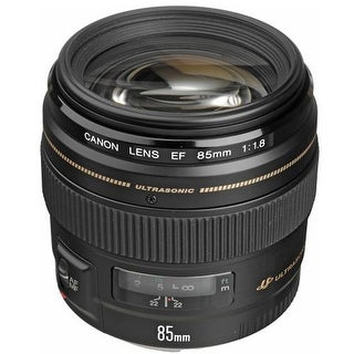 Canon EF 85mm F/1.8 USM Medium Telephoto Lens   Black