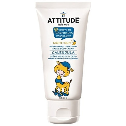 Attitude Calendula Face and Body Cream - Night, Soothing Chamomile, 2.6 Ounce