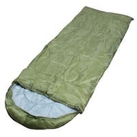 Adult Outdoor Hiking Camping Foldable Zipper Closure Sleeping Bag Army Green