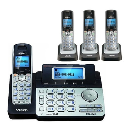 Vtech Ds6151+(3) Ds6101 Dect 6.0 Handset 2-Line Corded Cordless Phone Combo New!