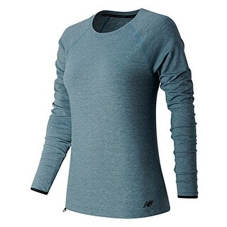 New Balance Women's Sport Style Long Sleeve Shirt, Riptide Heather, Large