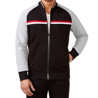 Sean John NEW Black Red Grey Mens Size 4XL Taped Bomber Track Jacket
