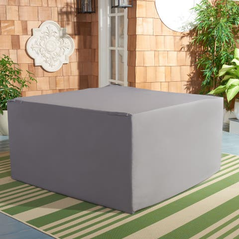 "SAFAVIEH Outdoor Living Alda 4-Piece Set Grey Cover - 50.4"" W x 53.1"" L x 30.7"" H"