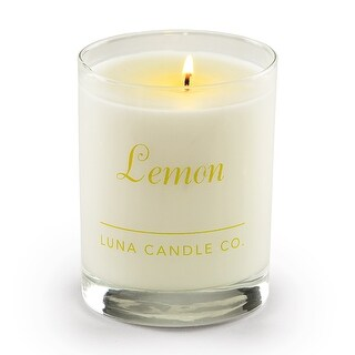 Luna Candle Co., Lemon - Scented Luxurious Candles - 11 Oz - 110 Hrs Burn Time