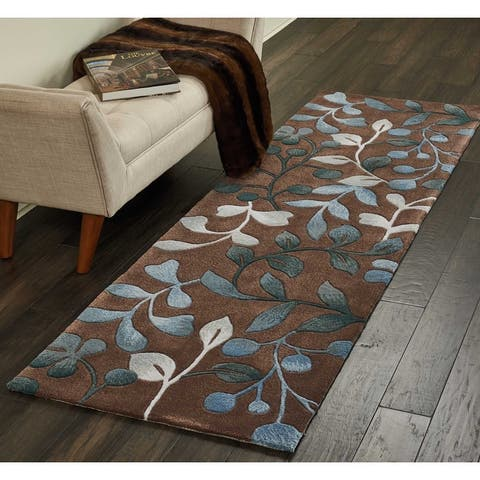 Nourison Hand-tufted Contours Oversized Leaf and Branch Area Rug